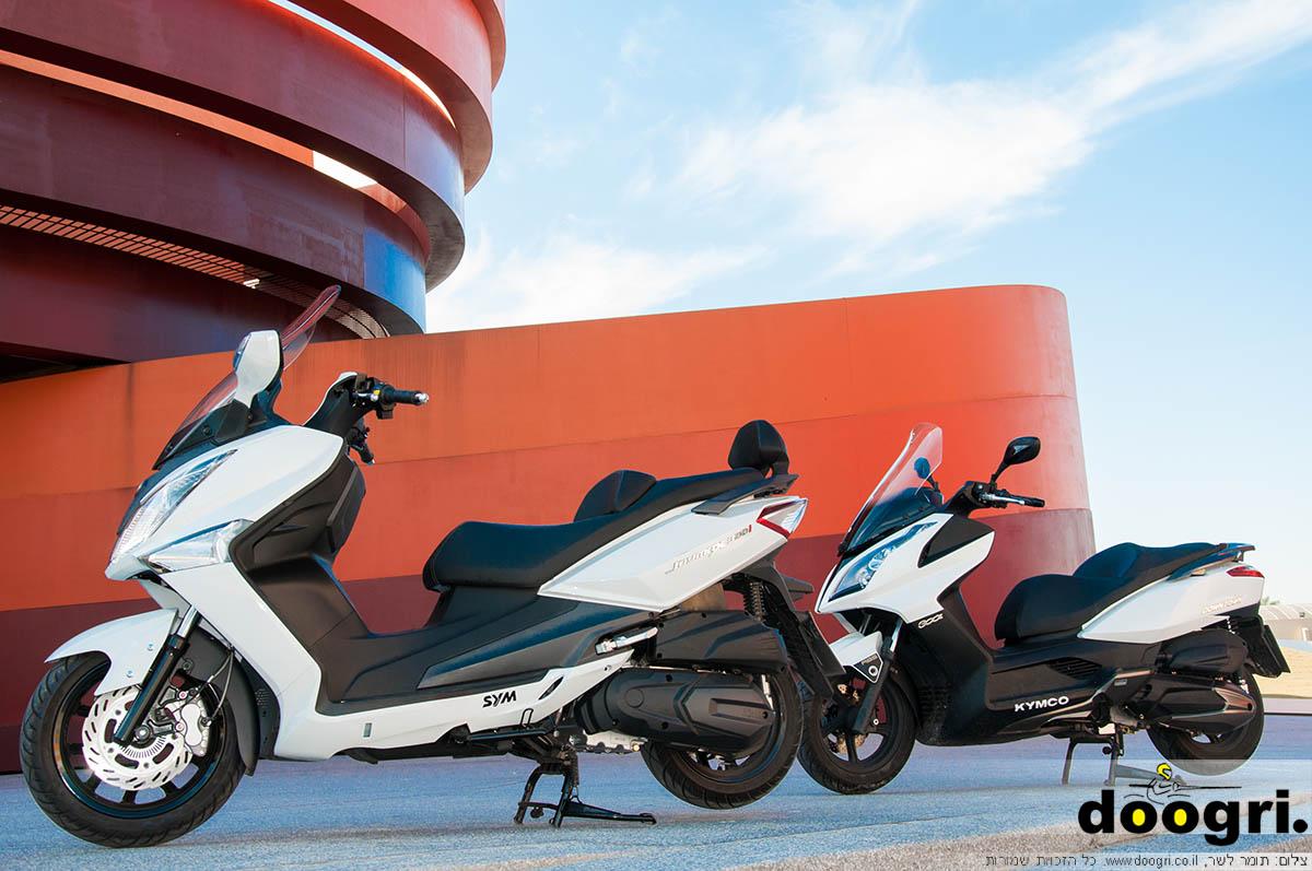 סאניאנג ג'וימקס 300 מול קימקו דאונטאון 300 ABS