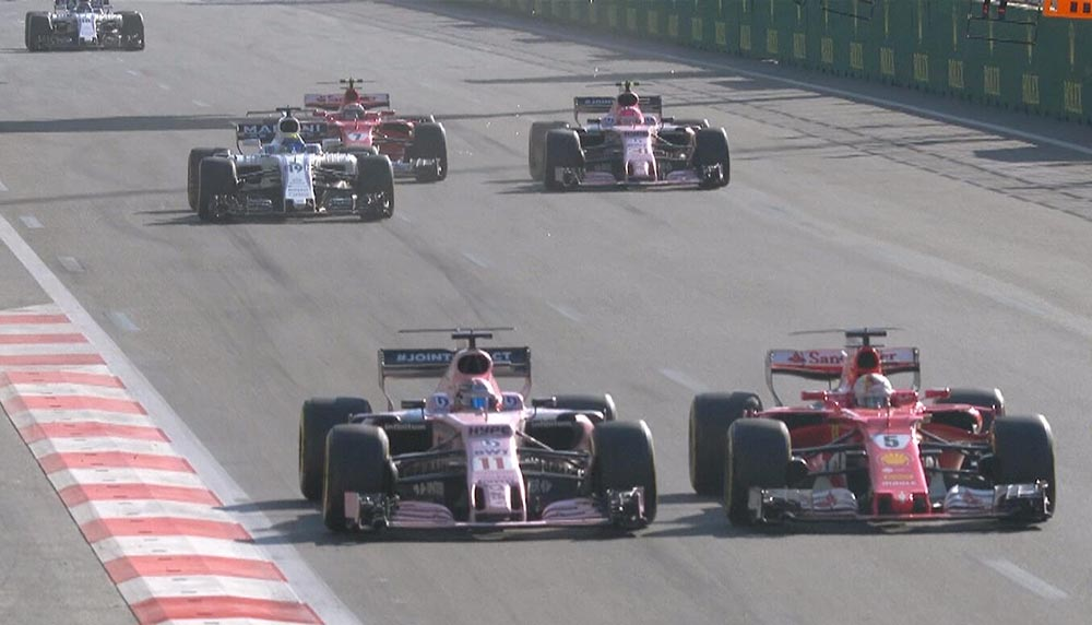 F1: ריקארדו מנצח בבאקו במרוץ משופע בארועים