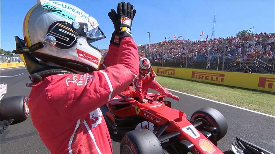 F1 הונגריה גריד: וטל יזנק ראשון, המילטון רביעי