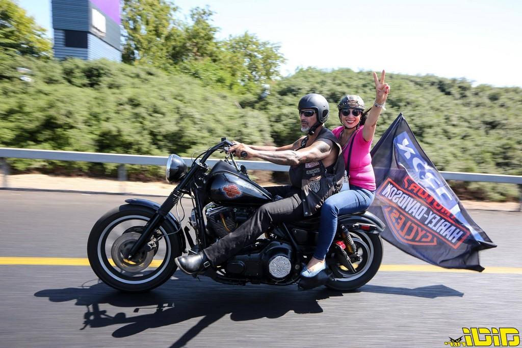 מיוחדים אופנועני הארלי דוידסון עושים הסברה למניעת סרטן השד - מוטו XL-86