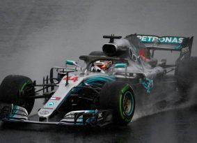 F1 הונגריה גריד: מרצדס יזנקו 1,2 לאחר מקצה דרוג רטוב