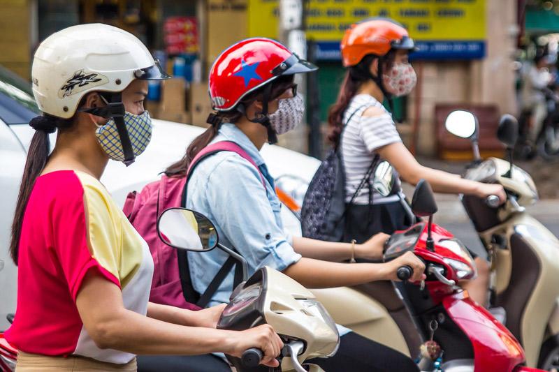 גם כן פיתרון לזיהום אוויר: האנוי תאסור תנועת דו גלגלי