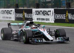 F1 גריד בלגיה: גשם משבש את התוכניות של פרארי, המילטון #1