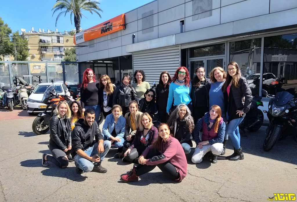 קבוצת הרוכבות MotoGirls il נפגשות להרצאה באופרוד