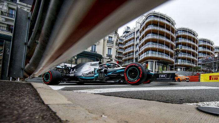 F1 גריד מונקו: כצפוי, מרצדס בשורה הראשונה