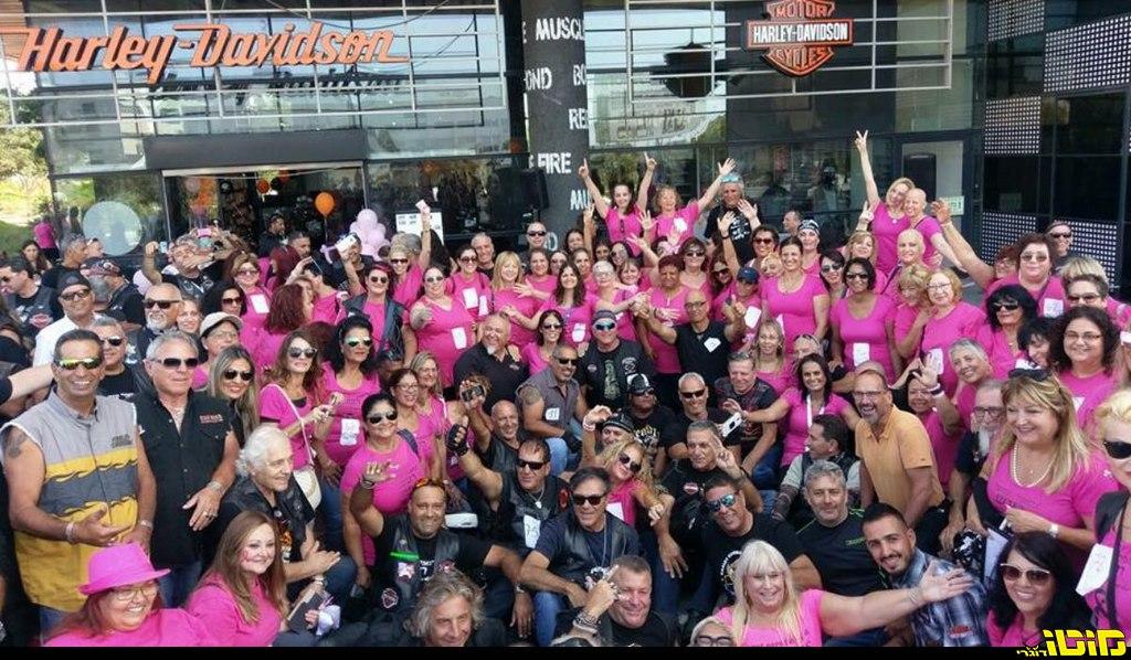 הארלי באירוע להגברת המודעות לסרטן השד