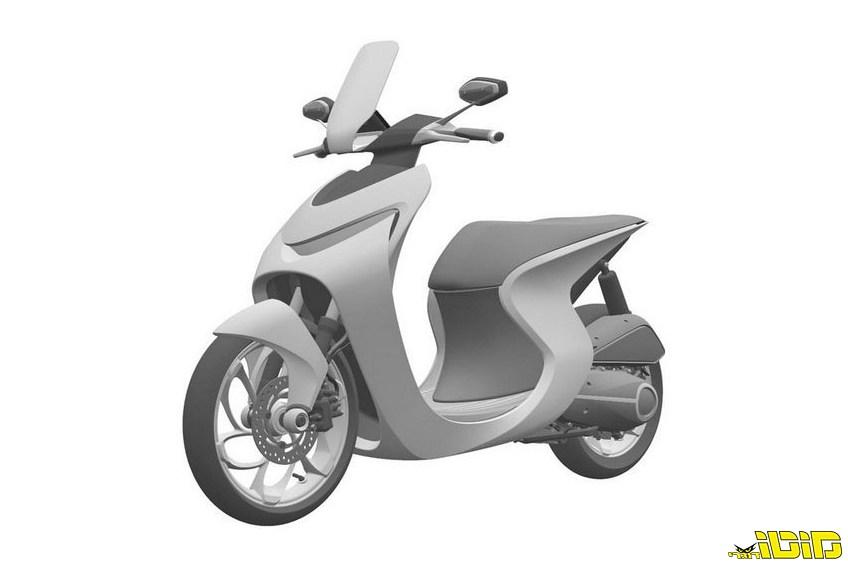 הונדה מגישה פטנט לקטנוע מעוצב וייחודי